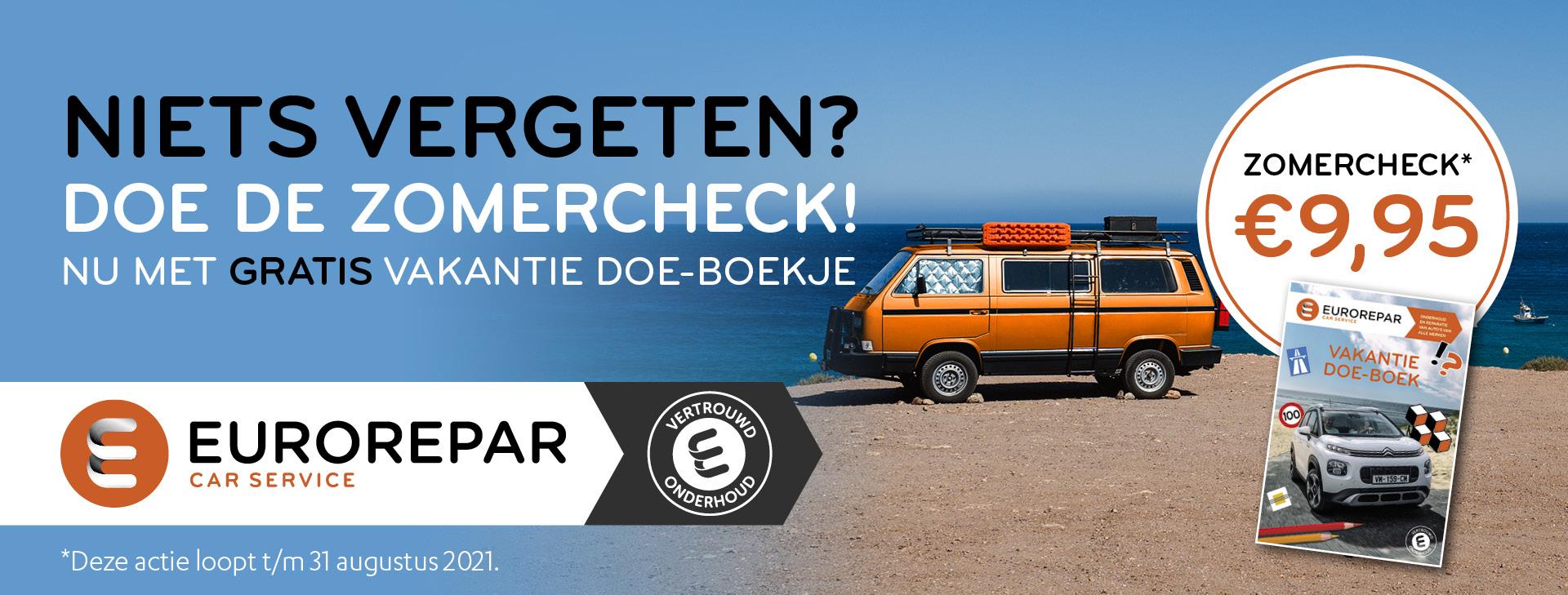Zomercheck Autoservice de Olm Eurorepar Car Service